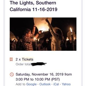 The Lights, Lantern Festival (2 tickets)